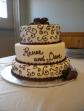 Renee and Dave's Wedding cake