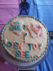 MY gender reveal cake