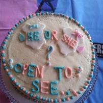 MY gender reveal cake
